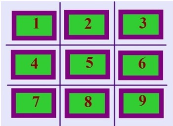 EDITABLE Math Review Tic Tac Toe Fun SmartBoard Interactive End of Year
