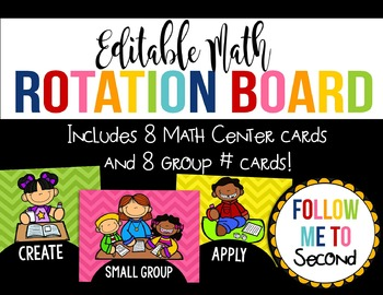 EDITABLE Math Rotation Board Printable Labels