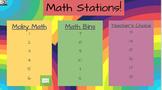 EDITABLE Math Station Rotations (Google Slides with music