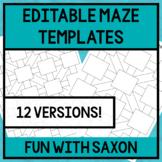 EDITABLE Maze Templates!