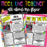 EDITABLE Meet The Teacher-Open House All About Me: Teacher Edition