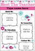 EDITABLE Meet The Teacher Template(Pink/Blue) U.K.Version!Black & White included