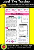 EDITABLE Meet The Teacher Template(Pink/Blue) U.K.Version!