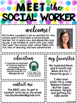 Editable Meet The Social Worker Template By The Primary