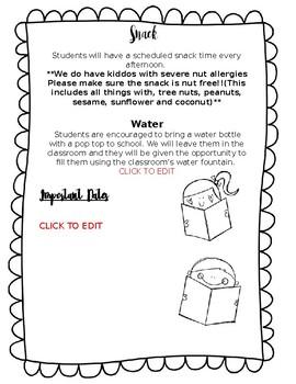 EDITABLE Meet the Teacher/Back to School Newsletter