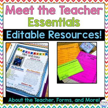 Meet the Teacher Essentials [EDITABLE]
