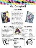 EDITABLE Meet the Teacher Handout