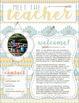 Meet the Teacher Handout - EDITABLE {Aztec / Tribal Print}