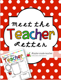EDITABLE Meet the Teacher Letter Template Open House Letter