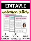 EDITABLE Meet the Teacher Letter - Welcome Letter - Parent Survey - Watercolors
