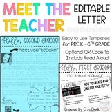EDITABLE Meet the Teacher Letter with QR Code Option