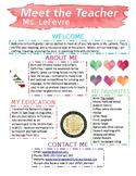 EDITABLE Meet the Teacher Newsletter Template - Watercolor