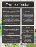 Meet the Teacher | Back to School Newsletter - Cactus Chalkboard EDITABLE