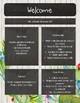 Meet the Teacher   Back to School Newsletter - Cactus Chalkboard EDITABLE