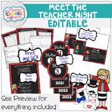 Meet the Teacher Night Stations EDITABLE