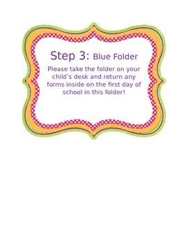 EDITABLE Meet the Teacher Night Steps
