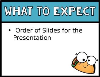 EDITABLE Meet the Teacher/Open House PowerPoint-Taco