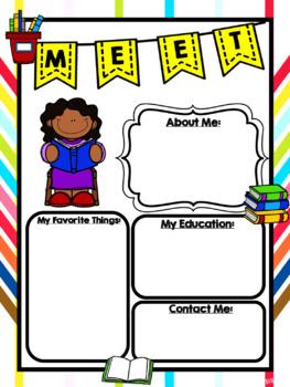EDITABLE Meet the Teacher Flyers - Subject Bundle