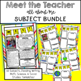 EDITABLE Meet the Teacher Flyers - Subject Bundle