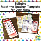 EDITABLE Meet the Teacher Template / Back to School Pamphlet in Rainbow