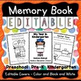 Graduation Memory Book Preschool Pre-K and Kinder EDITABLE