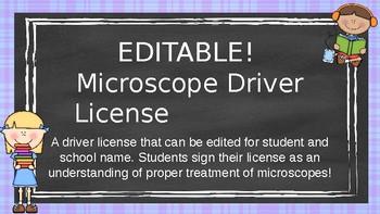 EDITABLE Microscope Driver License!