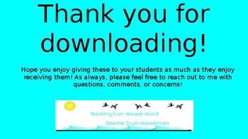 EDITABLE Middle and High School End of the Year Classroom Student Awards