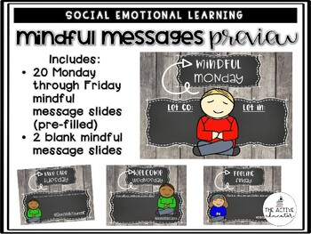EDITABLE Mindful Morning Messages!