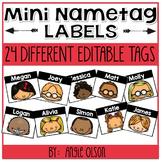 EDITABLE Mini Name Tag Labels
