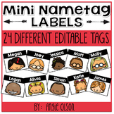 EDITABLE Mini Name Tag Labels