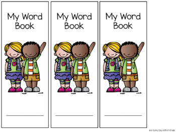 {EDITABLE} Mini Vocabulary Word Books!