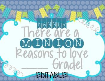 EDITABLE Minion Banner!
