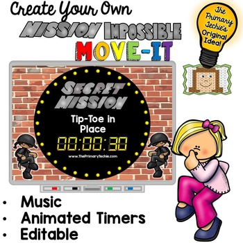 EDITABLE Mission Impossible Move It - Brain Breaks