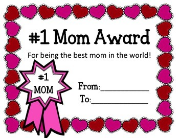 EDITABLE Mom Awards for Mother's Day.  Award Certificates you can EDIT!