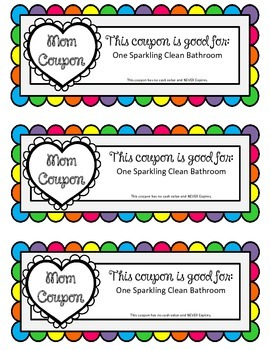 EDITABLE Mom Coupons! Happy Mother's Day Coupons!!