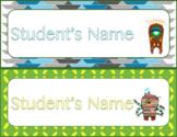 Monster Name Tags EDITABLE