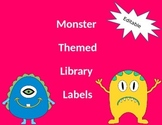 EDITABLE Monster themed Library Labels