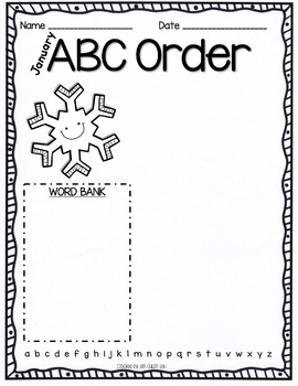 EDITABLE Monthly ABC Order Practice