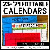 EDITABLE Monthly Calendars 2018-2019