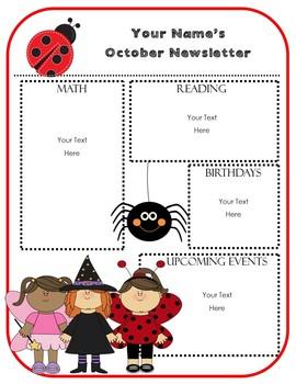 EDITABLE Monthly Newsletter