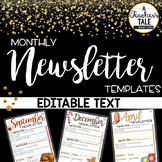 EDITABLE Monthly Newsletter Templates