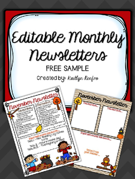 EDITABLE Monthly Newsletters - SAMPLE