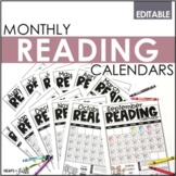 EDITABLE Monthly Reading Calendars