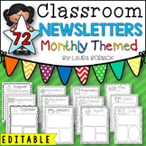 Monthly Newsletter Templates EDITABLE
