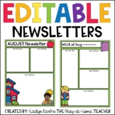 Newsletter Templates EDITABLE Newsletters for Whole Year