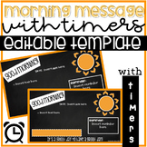 EDITABLE Morning Meeting/Morning Message PowerPoint Templa