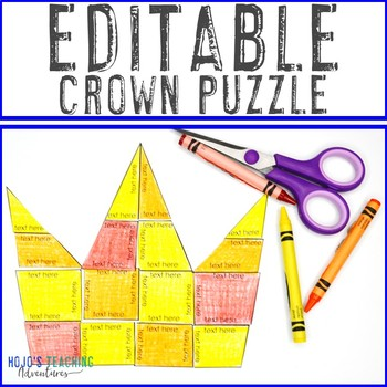 EDITABLE Mother's Day Crown - Your Own Math, Literacy, Foreign Language+ Games