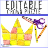 EDITABLE Mother's Day Crown - Your Own Math, Literacy, For