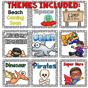EDITABLE Move It Bundle - Fun Themes #1