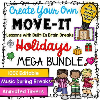 EDITABLE Move It Bundle - Holidays